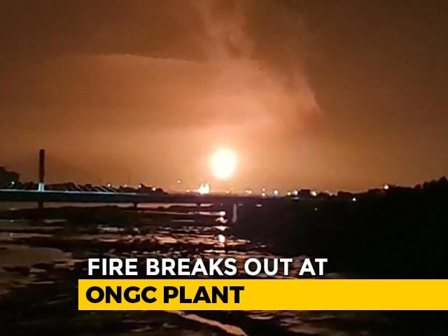 Video : Massive Fire At ONGC's Surat Plant After 3 Blasts, No Casualties Reported