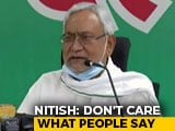 "Video : ""I Don't Care"": Nitish Kumar On Chirag Paswan's State Of Play In Bihar"