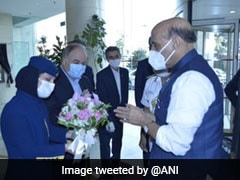 Defence Minister Rajnath Singh Arrives In Iran