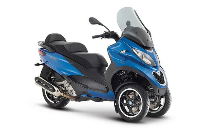 The Piaggio MP3 500 three-wheeled scooter has been recalled in the US