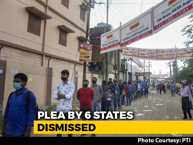 Video : JEE, NEET To Go Ahead, Top Court Dismisses 6 Opposition-Ruled States' Plea
