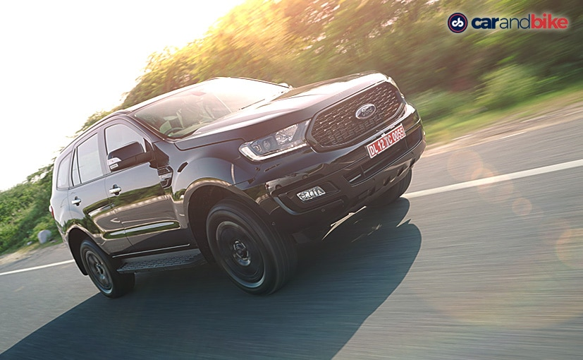 The Ford Endeavour Sport gets blacked out treatment replacing most of the chrome elements.