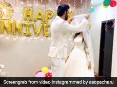 'शादी की सालगिरह' पर राजीव सेन ने इस खास अंदाज में देखा अपनी दुल्हनिया का चेहरा, VIDEO हुआ वायरल