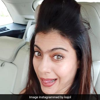 Kajol Is 'Too Glam To Give A Damn' When Her Hair Rollers Are Busy At Work