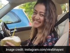 नेहा कक्कड़ कार में बैठी पी रही थीं नारियल पानी, कैमरामैन ने बता दिया नंबर तो सिंगर का यूं आया रिएक्शन- Video