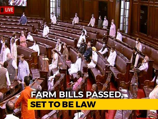Video : Farm Bills Clear Parliament Amid Unprecedented Drama In Rajya Sabha