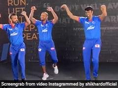 """IPL 2020: Shikhar Dhawan Teaches """"Few Punjabi Steps"""" To Ravichandran Ashwin, Ajinkya Rahane. Watch"""