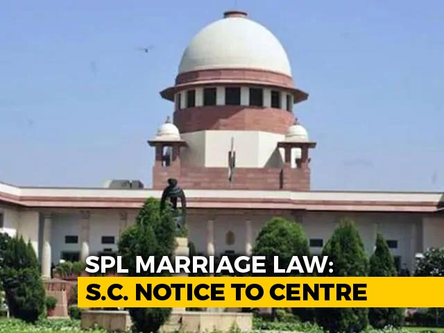 Video : Supreme Court To Examine Special Marriage Act Over Privacy Concerns