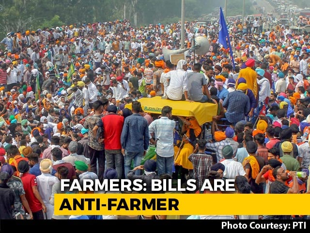 Video : Massive Farmer Protests In Punjab, Haryana, Parts Of UP Over 3 Bills
