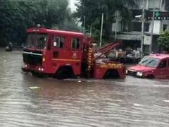 Mumbai Fire Officials To Team's Rescue, Stuck After Heavy Rain. See Video