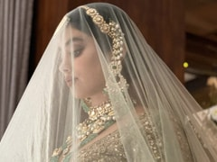 Janhvi Kapoor Is A Stunning Sight To Behold In A Sparkling <i>Lehenga</i> And Bridal Jewellery