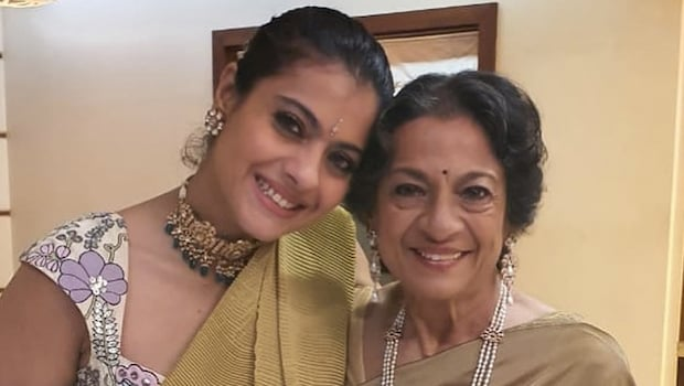 Kajol, Tanishaa Celebrates Tanuja's Birthday With This Filmy Cake; See Pics Inside