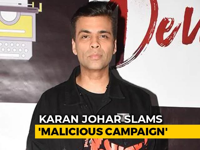 'Don't Consume Or Promote Drugs': Karan Johar Slams 'Malicious Campaign'
