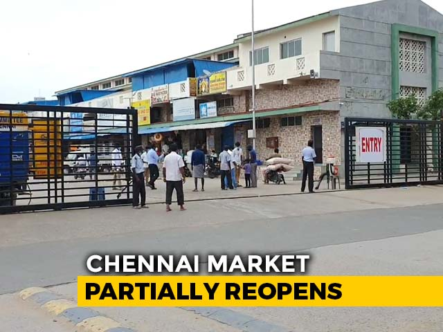 Video : Chennai's Super-Spreader Market Partially Reopens With Strict Guidelines