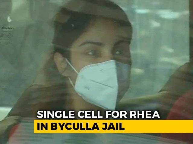 Video : No Fan Or Bed In Rhea Chakraborty's Jail Cell, Next To Indrani Mukerjea's