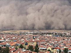 Huge Dust Cloud Engulfs Buildings As Turkey Capital Hit By Freak Sandstorm