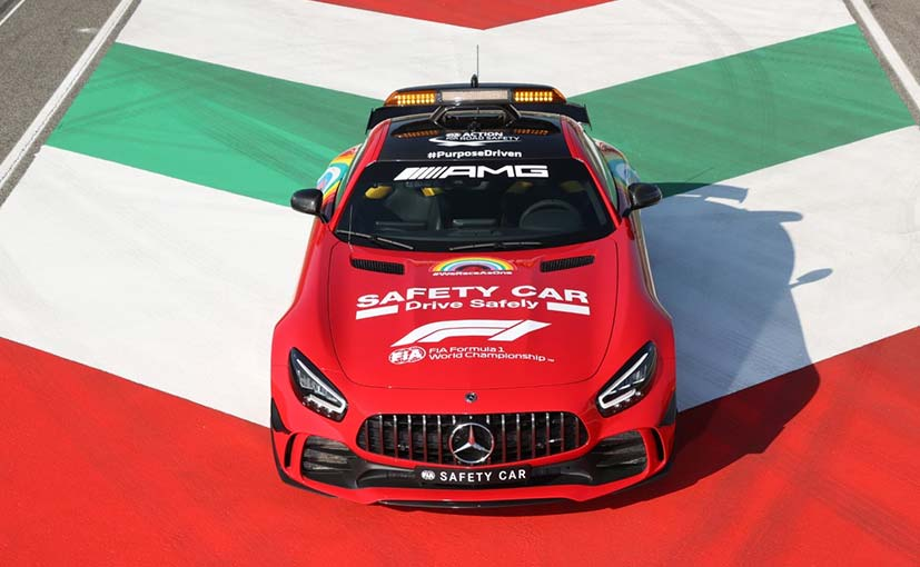 The AMG GT R was dressed in red for Ferrari's 1000th race at Mugello