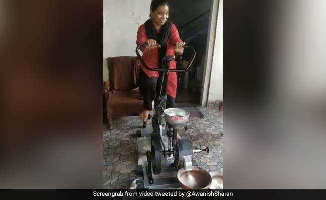 Cycle Chakki: This 'Jugaad' To Grind Flour While Exercising Is Viral