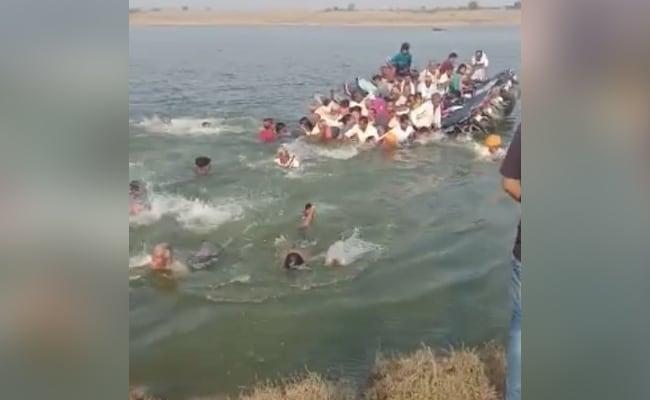 चंबल नदी को पार करते समय नदी में डूबा नाव, 50 से अधिक लोग सवार थे, 6 की मौत