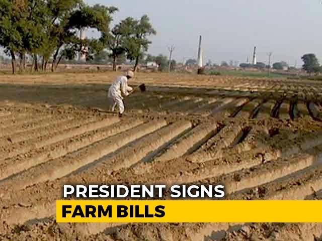Video : President Signs Farm Bills Passed Amid Unprecedented Drama In Parliament