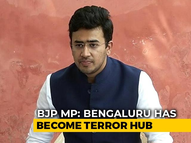 "Video : ""Bengaluru Has Become Terror Hub In Last Few Years"": BJP MP Tejasvi Surya"