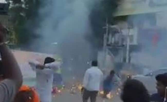 On Camera, BJP Workers Celebrating PM's Birthday Injured In Explosion