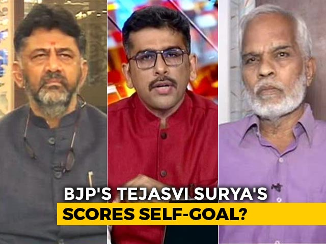 Video : BJP MP Tejasvi Surya Triggers Up A Storm With Terror Remark