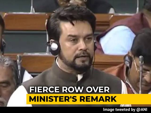 Video : Protests Over Anurag Thakur's Nehru-Gandhi Remarks, Lok Sabha Adjourned