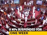 Video : Derek O'Brien, 7 Others Suspended Over Rajya Sabha Chaos On Farm Bills