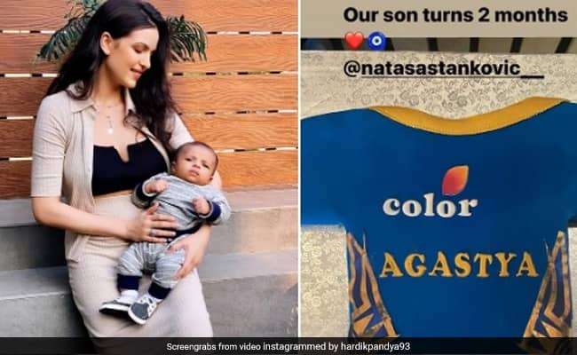 IPL 2020 Hardik Pandya, Natasa Stankovics Son Turns Two Months Old, Couple Celebrates