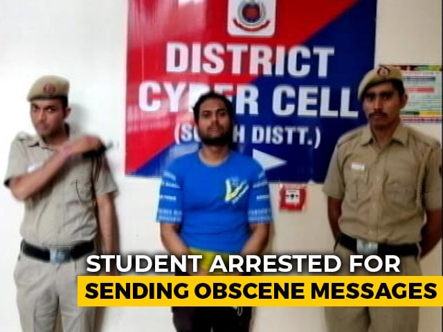 Video : Delhi Student Arrested For Sending Obscene Messages On Facebook: Police