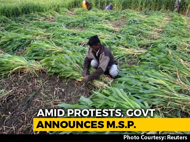 Video : Minimum Support Price For Crops Raised Amid Row Over Farm Bills