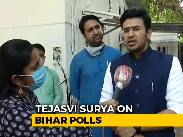 Video: BJP Youth Wing Chief Targets Bihar's Tejashwi Yadav On Unemployment Dig