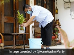 Video: Arvind Kejriwal Cleans Stagnant Water At Home In Dengue Fight