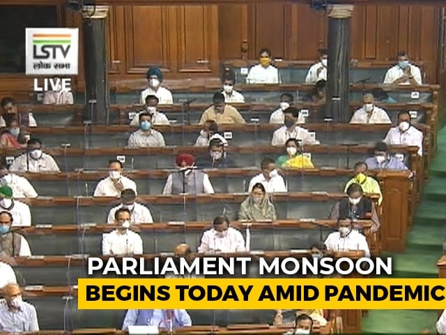 Video : Masks, MPs Separated By Poly-Carbon Sheets As Parliament Begins