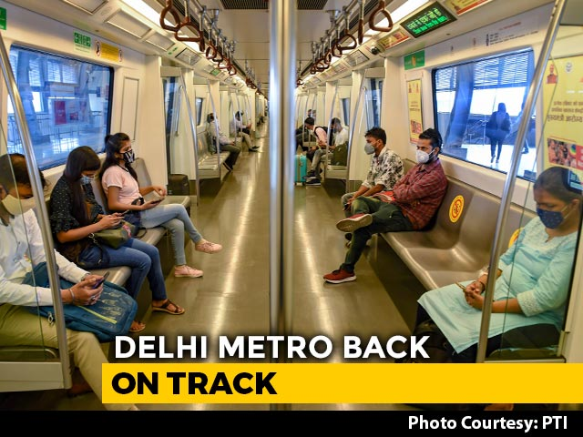 Video : Delhi Metro's Blue, Pink Line To Resume From Today After 171-Day Shutdown