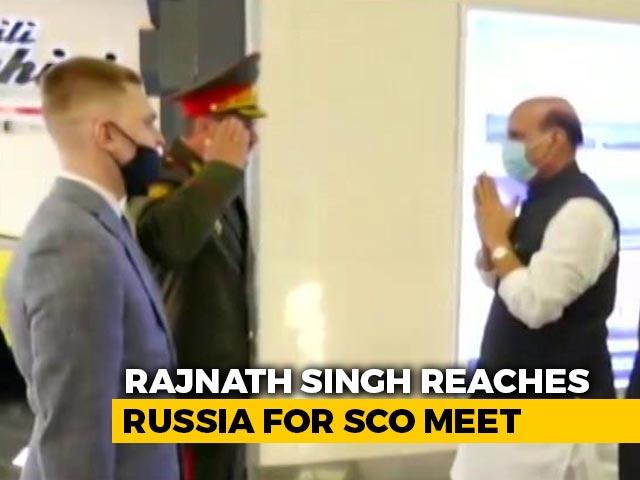Video : Rajnath Singh Reaches Russia For Shanghai Cooperation Organisation Meet