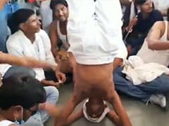 "Congress MLA's ""Headstand Protest"" After Official Refuses To Meet Him"