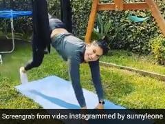Sunny Leone को नई तरह की एक्सरसाइज करना पड़ा भारी, बोलीं- मुझ पर हंसना बंद करो...Video