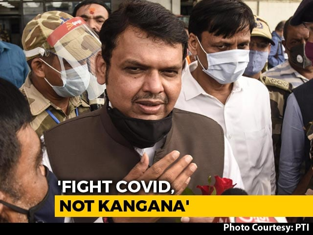"Video : Devendra Fadnavis's ""Dawood"" Jibe After Actor Kangana Ranaut Office Demolition"