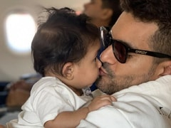 Angad Bedi Shares Adorable Father-Daughter Moments With Baby Mehr. See Pics