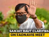 "Video : ""Not Politics"": Sanjay Raut, Devendra Fadnavis Meet At Hotel Sparks Buzz"
