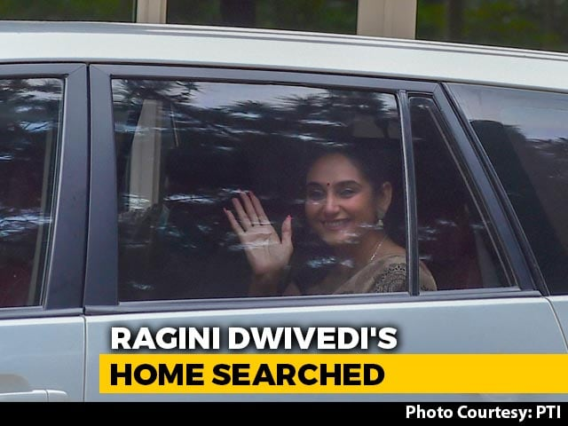 Video : Kannada Actress Ragini Dwivedi's Bengaluru Home Searched In Drugs Probe