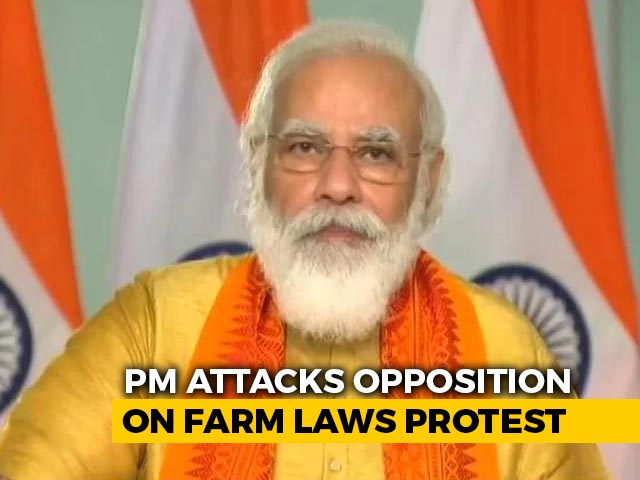 """Video : """"Source Of Black Money Shut"""": PM Attacks Opposition On Farm Law Protests"""