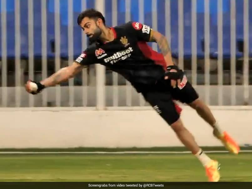 """Running Out Of Things To Say, Skip"": Awestruck RCB Share Video Of Virat Kohli Taking Diving Catch In Practice"