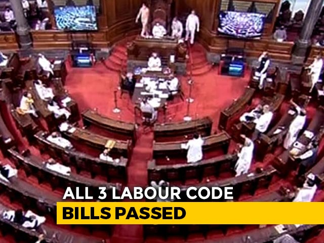 Video : 3 Labour Code Bills Passed In Rajya Sabha Amid Opposition Boycott