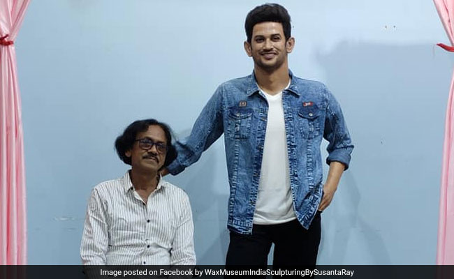 Photo of Sushant Singh Rajput's Tussauds-Like Wax Statue Made By West Bengal Sculptor