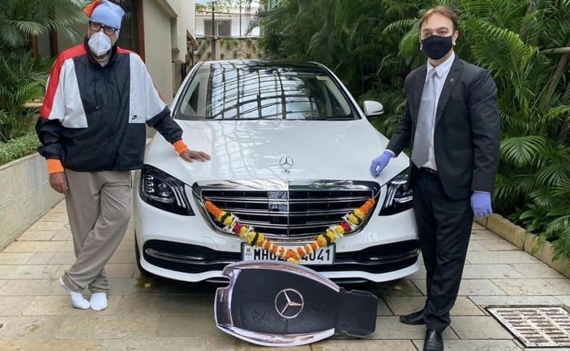 Amitabh Bachchan took the delivery of his new Mercedes-Benz S-Class
