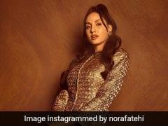Nora Fatehi's Metallic Skirt Suit Is Setting Work Wear Goals