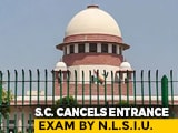 Video : Top Court Cancels Bengaluru National Law School's Separate Entrance Exam